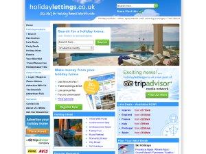 Holidaylettings.co.uk website