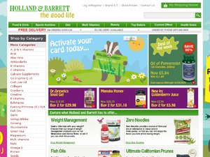 Holland & Barrett website