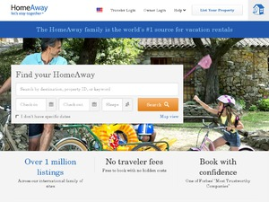 HomeAway for Owners website