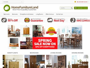 Home Furniture Land website