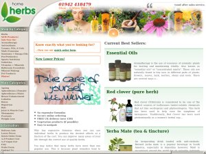 Home Herbs website