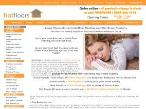 Hot Floors UK website