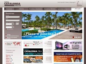 Hoteles Catalonia website