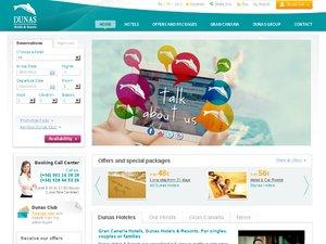 Dunas Hotels website