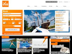 Hotels Viva website