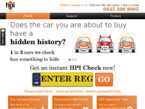 HPI Car Check website