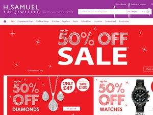 H Samuel website