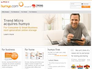 Humyo website