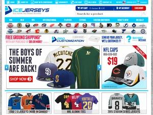 IceJerseys.com website
