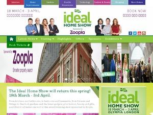 Ideal Home Show London website