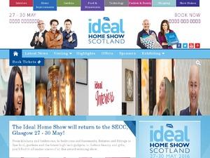 Ideal Home Show Scotland website