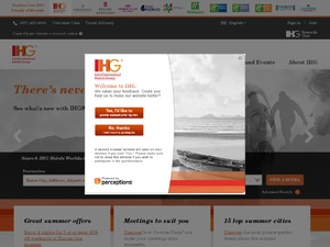 IHG InterContinental Hotels Group website