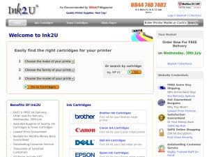 Ink2u website