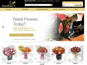 Interflora website