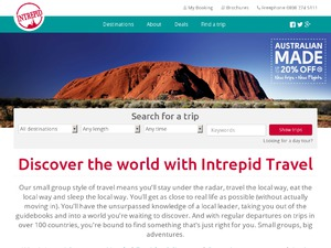 Intrepid Travel website