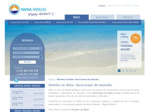 Invisa Hoteles website