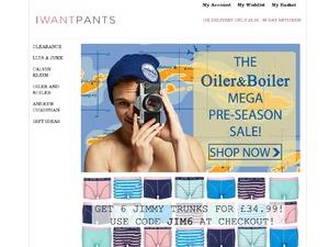 I Want Pants website
