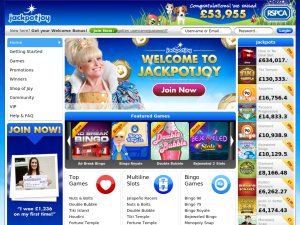 Jackpot Joy website