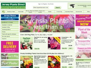 Jersey Plants Direct website