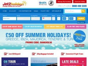 Jet2Holidays website