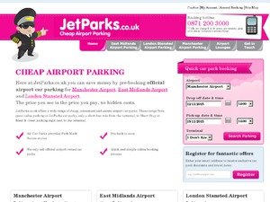 JetParks Airport Car Park website