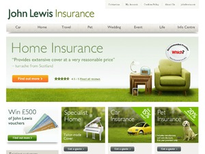 John Lewis Insurance website