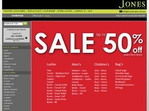 Jones Bootmaker website
