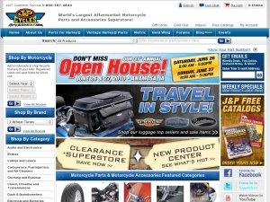 J&P Cycles website