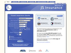 JS Insurance website