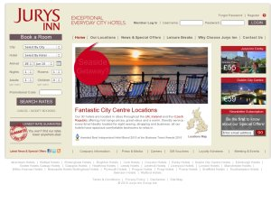 Jurys Inns website