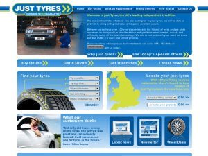 Just Tyres website