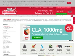 Just Vitamins website