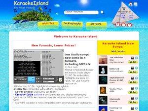 Karaoke Island website
