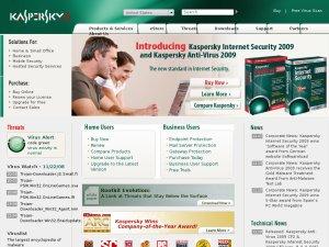 Kaspersky UK website