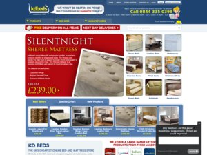 KD Beds website