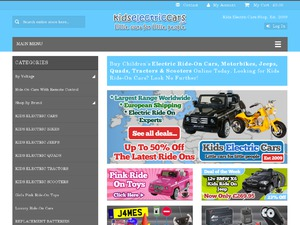 Kids Electric Cars website