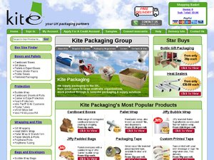 The Packaging Store website