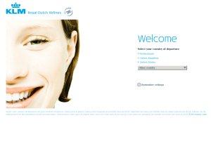 KLM website
