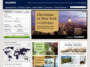Kuoni website