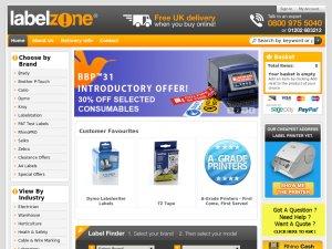 Label Zone website