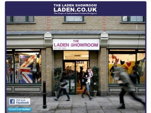 The Laden Showroom website