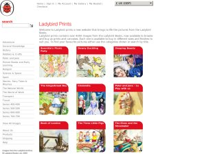 Ladybird prints website