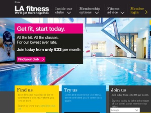 LA Fitness website