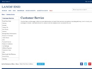 Lands End website