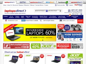Laptops Direct website