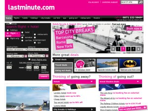 lastminute.com website