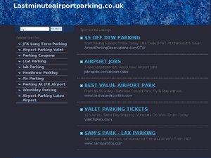 Lastminute Airport Parking website