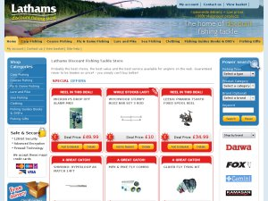 Lathams Fishing website