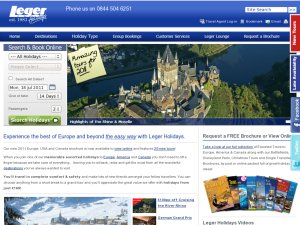 Leger Holidays website