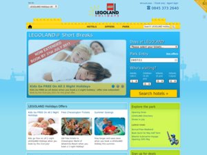 Legoland Holidays website